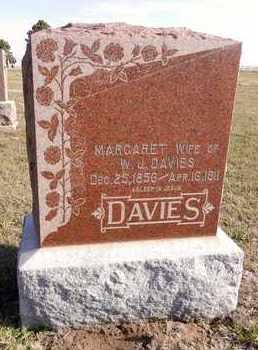 DAVIES, MARGARET - Saunders County, Nebraska | MARGARET DAVIES - Nebraska Gravestone Photos