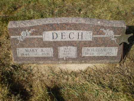 DECH, WILLIAM H - Saunders County, Nebraska   WILLIAM H DECH - Nebraska Gravestone Photos