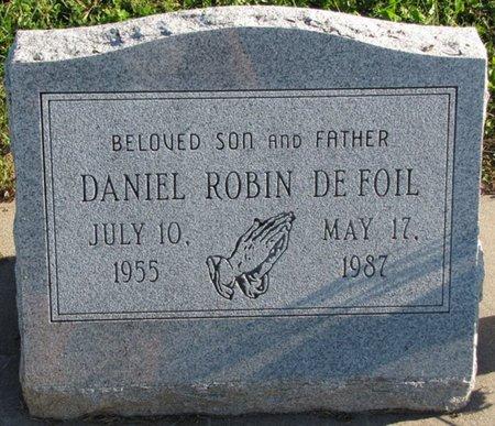 DEFOIL, DANIEL ROBIN - Saunders County, Nebraska   DANIEL ROBIN DEFOIL - Nebraska Gravestone Photos