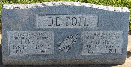 DEFOIL, MARGIE P. - Saunders County, Nebraska   MARGIE P. DEFOIL - Nebraska Gravestone Photos