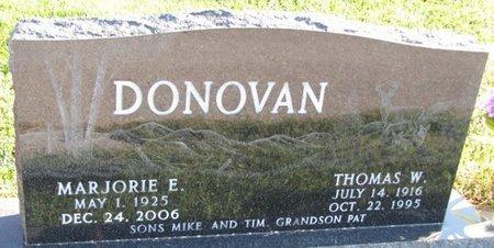 DONOVAN, MARJORIE E. - Saunders County, Nebraska | MARJORIE E. DONOVAN - Nebraska Gravestone Photos