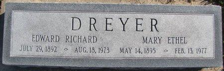 DREYER, EDWARD RICHARD - Saunders County, Nebraska | EDWARD RICHARD DREYER - Nebraska Gravestone Photos