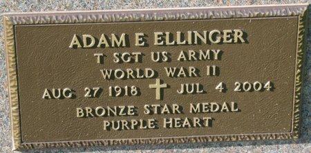 ELLINGER, ADAM E. (MILITARY) - Saunders County, Nebraska   ADAM E. (MILITARY) ELLINGER - Nebraska Gravestone Photos