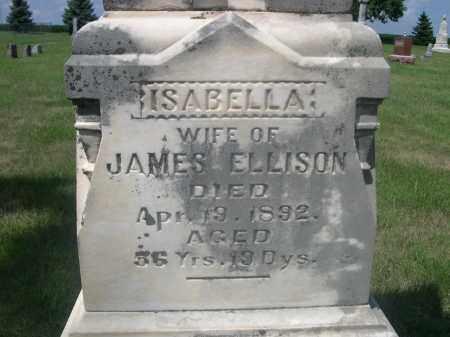 ELLISON, ISABELLA - Saunders County, Nebraska | ISABELLA ELLISON - Nebraska Gravestone Photos