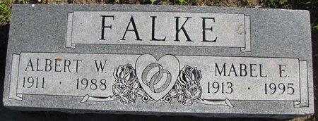FALKE, ALBERT W. - Saunders County, Nebraska | ALBERT W. FALKE - Nebraska Gravestone Photos