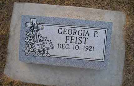 FEIST, GEORGIA P. - Saunders County, Nebraska | GEORGIA P. FEIST - Nebraska Gravestone Photos