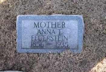 FEUERSTEIN, ANNA T. - Saunders County, Nebraska | ANNA T. FEUERSTEIN - Nebraska Gravestone Photos