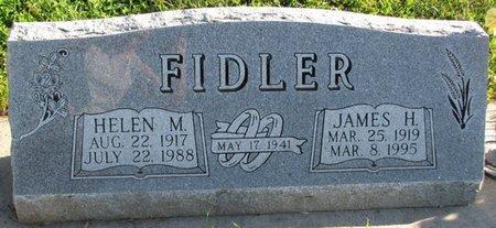 FIDLER, JAMES H. - Saunders County, Nebraska | JAMES H. FIDLER - Nebraska Gravestone Photos