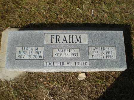 FRAHM, LAWRENCE H - Saunders County, Nebraska | LAWRENCE H FRAHM - Nebraska Gravestone Photos