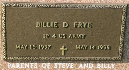FRYE, BILLIE D. (MILITARY) - Saunders County, Nebraska | BILLIE D. (MILITARY) FRYE - Nebraska Gravestone Photos
