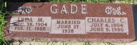 FLEISCHMAN GADE, LEDA MARIE - Saunders County, Nebraska | LEDA MARIE FLEISCHMAN GADE - Nebraska Gravestone Photos