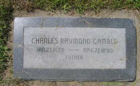 GAMBLE, CHARLES RAYMOND - Saunders County, Nebraska | CHARLES RAYMOND GAMBLE - Nebraska Gravestone Photos