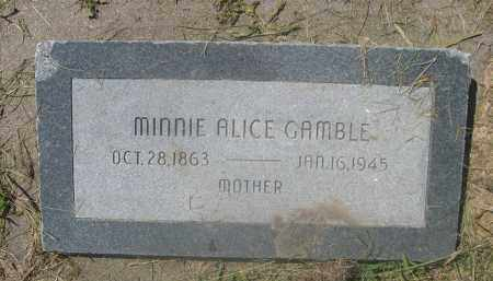 GAMBLE, MINNIE ALICE - Saunders County, Nebraska | MINNIE ALICE GAMBLE - Nebraska Gravestone Photos