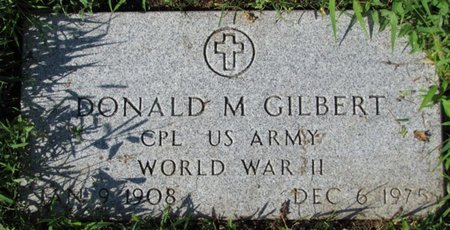 GILBERT, DONALD M. (MILITARY) - Saunders County, Nebraska | DONALD M. (MILITARY) GILBERT - Nebraska Gravestone Photos
