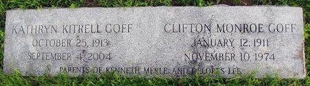 GOFF, CLIFTON MONROE - Saunders County, Nebraska | CLIFTON MONROE GOFF - Nebraska Gravestone Photos