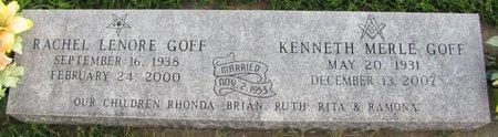 HANCOCK GOFF, RACHEL LENORE - Saunders County, Nebraska | RACHEL LENORE HANCOCK GOFF - Nebraska Gravestone Photos
