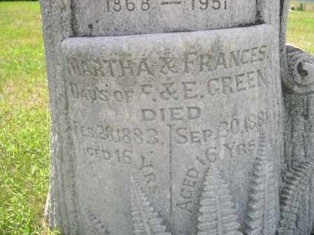 GREEN, FRANCES - Saunders County, Nebraska | FRANCES GREEN - Nebraska Gravestone Photos