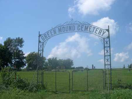 GREEN MOUND CEMETERY, ENTRANCE TO - Saunders County, Nebraska | ENTRANCE TO GREEN MOUND CEMETERY - Nebraska Gravestone Photos