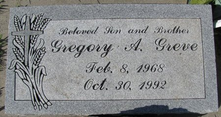 GREVE, GREGORY A. - Saunders County, Nebraska | GREGORY A. GREVE - Nebraska Gravestone Photos