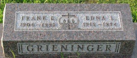 DUTCHER GRIENINGER, EDNA LUELLA - Saunders County, Nebraska   EDNA LUELLA DUTCHER GRIENINGER - Nebraska Gravestone Photos