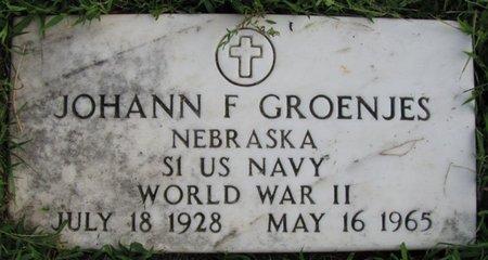 GROENJES, JOHANN F. - Saunders County, Nebraska   JOHANN F. GROENJES - Nebraska Gravestone Photos