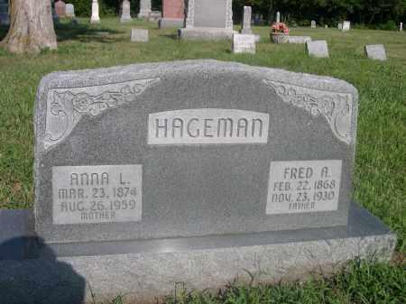 HAGEMAN, ANNA L. - Saunders County, Nebraska | ANNA L. HAGEMAN - Nebraska Gravestone Photos