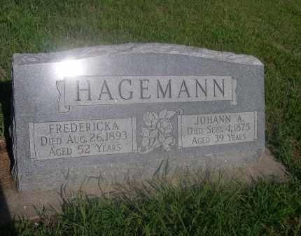 HAGEMANN, JOHANN A. - Saunders County, Nebraska | JOHANN A. HAGEMANN - Nebraska Gravestone Photos