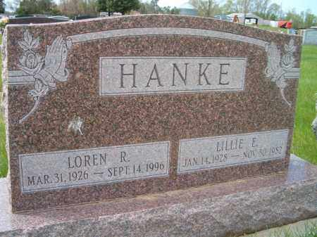 HANKE, LILLIE E. - Saunders County, Nebraska | LILLIE E. HANKE - Nebraska Gravestone Photos