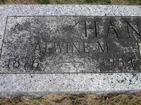 HANSEN, ALWINE M. (CLOSE UP) - Saunders County, Nebraska | ALWINE M. (CLOSE UP) HANSEN - Nebraska Gravestone Photos