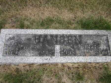 HANSEN, CLAUS H. - Saunders County, Nebraska   CLAUS H. HANSEN - Nebraska Gravestone Photos