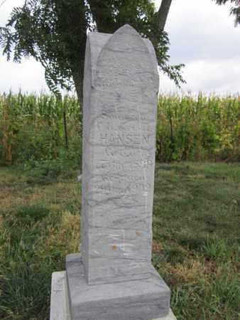 HANSEN, HERMAN H. - Saunders County, Nebraska   HERMAN H. HANSEN - Nebraska Gravestone Photos