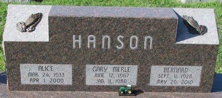 HANSON, ALICE - Saunders County, Nebraska | ALICE HANSON - Nebraska Gravestone Photos