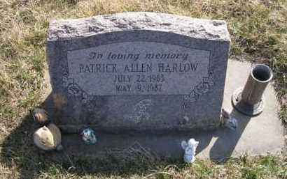 HARLOW, PATRICK ALLEN - Saunders County, Nebraska | PATRICK ALLEN HARLOW - Nebraska Gravestone Photos