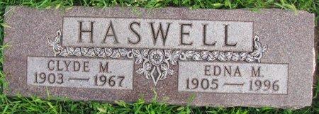 HASWELL, CLYDE M. - Saunders County, Nebraska | CLYDE M. HASWELL - Nebraska Gravestone Photos