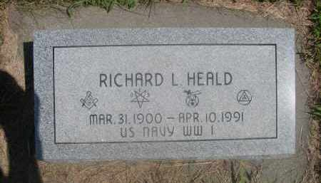 HEALD, RICHARD L. - Saunders County, Nebraska | RICHARD L. HEALD - Nebraska Gravestone Photos