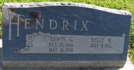 HENDRIX, BETTY W. - Saunders County, Nebraska | BETTY W. HENDRIX - Nebraska Gravestone Photos