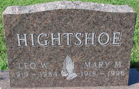 HIGHTSHOE, MARY M. - Saunders County, Nebraska | MARY M. HIGHTSHOE - Nebraska Gravestone Photos