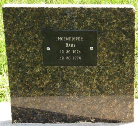 HOFMEISTER, BABY - Saunders County, Nebraska | BABY HOFMEISTER - Nebraska Gravestone Photos
