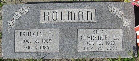 HOLMAN, FRANCES A. - Saunders County, Nebraska | FRANCES A. HOLMAN - Nebraska Gravestone Photos