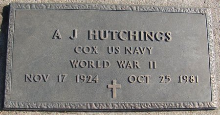 HUTCHINGS, ALFRED J. - Saunders County, Nebraska | ALFRED J. HUTCHINGS - Nebraska Gravestone Photos