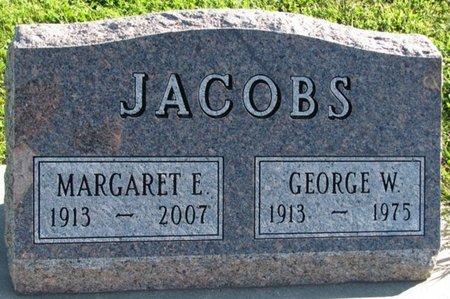 JACOBS, MARGARET E. - Saunders County, Nebraska   MARGARET E. JACOBS - Nebraska Gravestone Photos