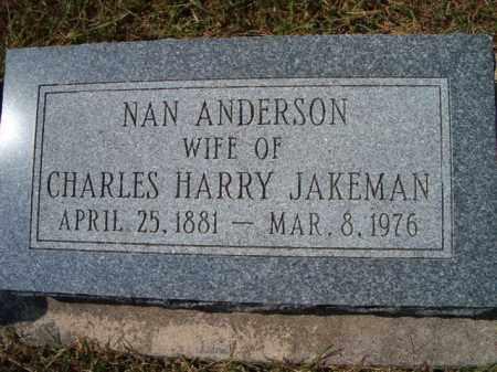 JAKEMAN, NAN - Saunders County, Nebraska | NAN JAKEMAN - Nebraska Gravestone Photos
