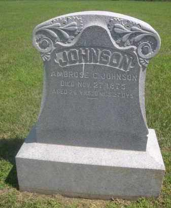 JOHNSON, AMBROSE C. - Saunders County, Nebraska | AMBROSE C. JOHNSON - Nebraska Gravestone Photos