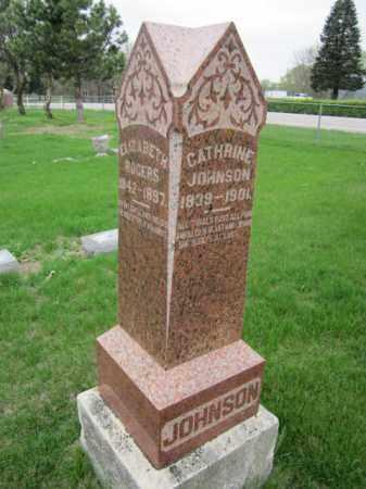 JOHNSON, CATHRINE - Saunders County, Nebraska   CATHRINE JOHNSON - Nebraska Gravestone Photos