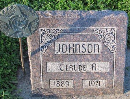 JOHNSON, CLAUDE A. - Saunders County, Nebraska | CLAUDE A. JOHNSON - Nebraska Gravestone Photos