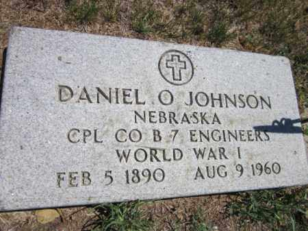 JOHNSON, DANIEL O. (MILITARY MARKER) - Saunders County, Nebraska   DANIEL O. (MILITARY MARKER) JOHNSON - Nebraska Gravestone Photos
