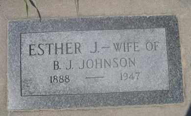 JOHNSON, ESTER J. - Saunders County, Nebraska | ESTER J. JOHNSON - Nebraska Gravestone Photos