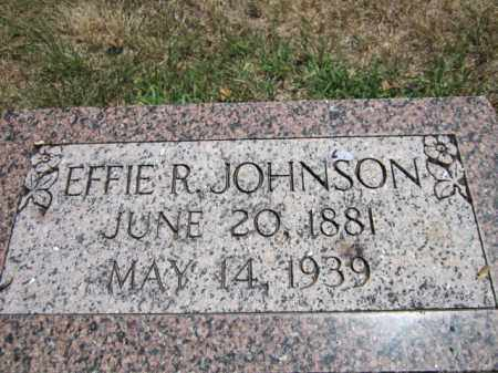 JOHNSON, EFFIE R. - Saunders County, Nebraska | EFFIE R. JOHNSON - Nebraska Gravestone Photos