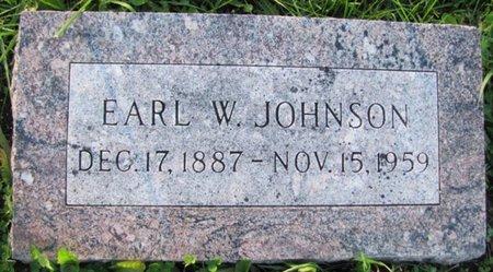 JOHNSON, EARL W. (STONE 2) - Saunders County, Nebraska | EARL W. (STONE 2) JOHNSON - Nebraska Gravestone Photos