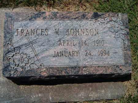 JOHNSON, FRANCES V - Saunders County, Nebraska | FRANCES V JOHNSON - Nebraska Gravestone Photos